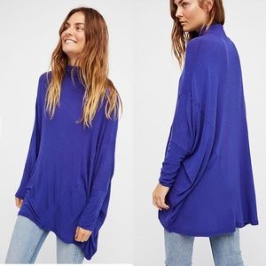 FREE PEOPLE WE THE FREE TERRY OVERSIZED TOP